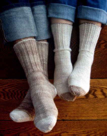 Whit's Knits: Homespun BootSocks