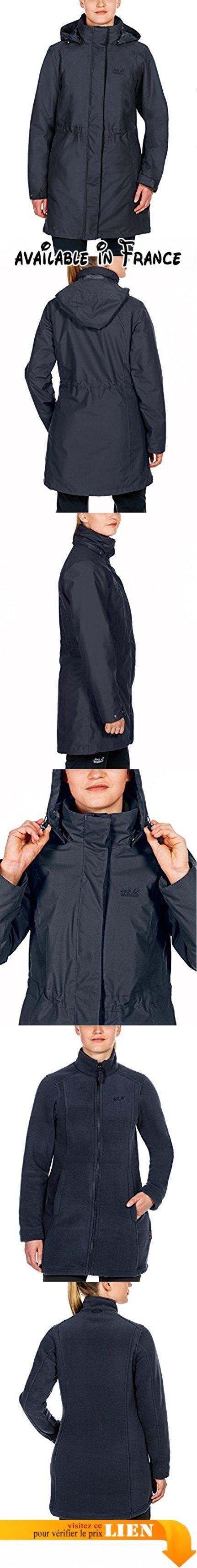 Jack Wolfskin Veste double OTTAWA COAT 3 in 1 femme. Manteau 3en 1. Imperméable, coupe-vent. Respirant. Intérieur en polaire manteau #Sports #OUTDOOR_RECREATION_PRODUCT
