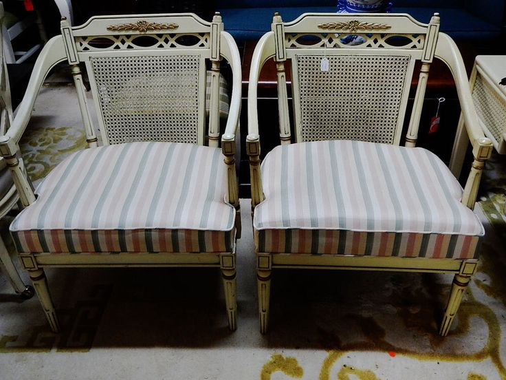Pair Vintage Cane Back Arm Chairs by ELRAYOFDELRAY on Etsy https://www.etsy.com/listing/263722917/pair-vintage-cane-back-arm-chairs