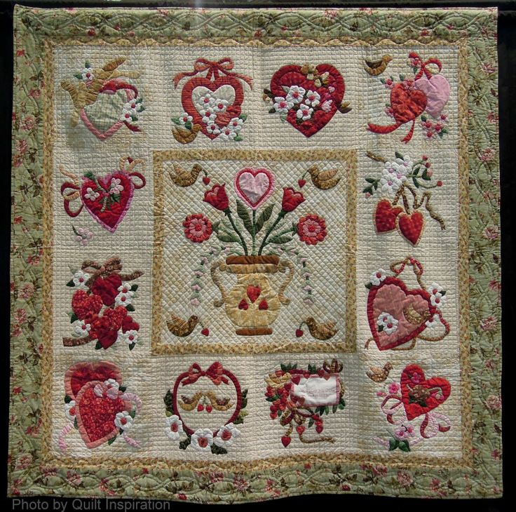 220 best Hearts & Valentine quilts images on Pinterest | Hearts ... : valentine quilt patterns - Adamdwight.com