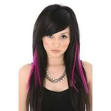 Pics of black hair with pink highlights the best black hair 2017 black hair with pink highlights hairstyle fo women man pmusecretfo Image collections