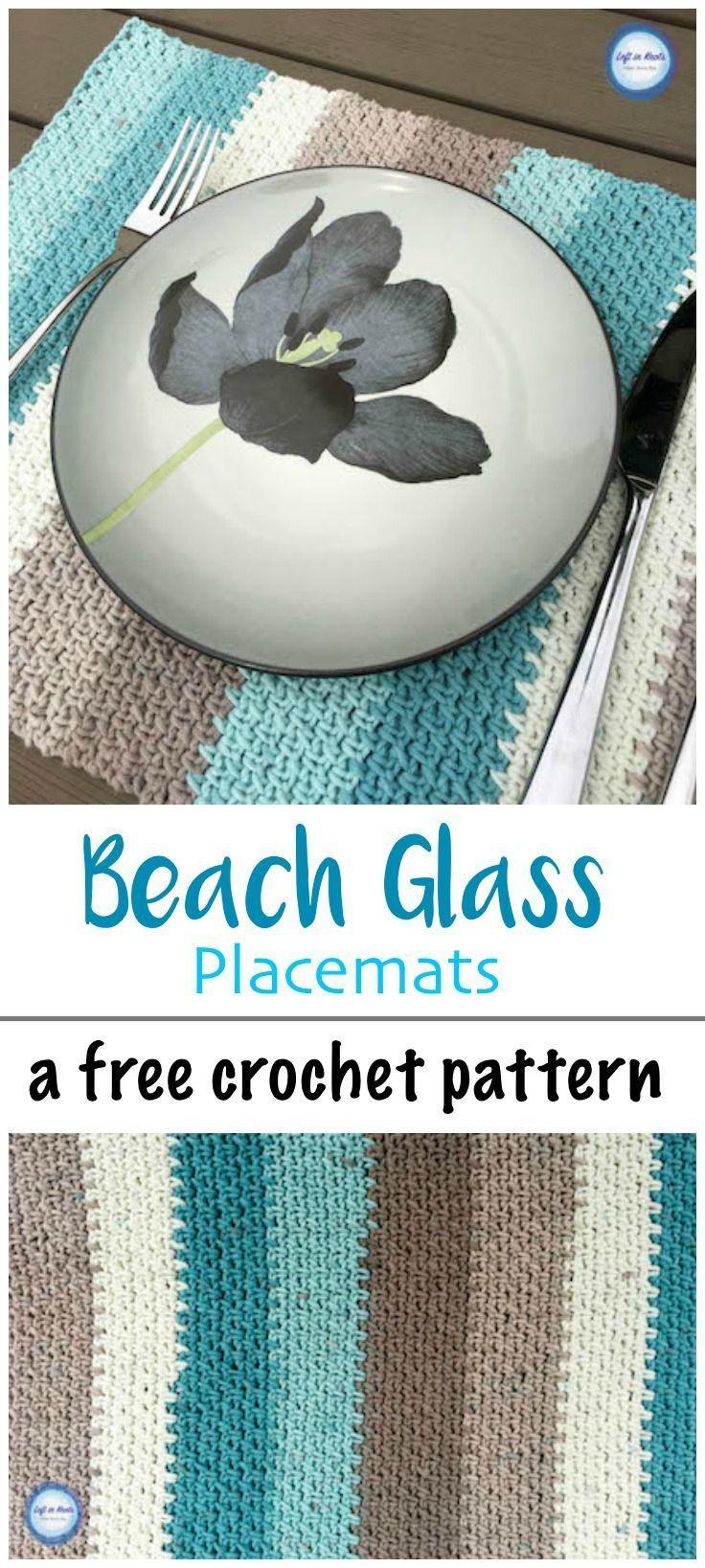 Crochet Beach Glass Placemats Left In Knots Crochet Placemat Patterns Crochet Coasters Placemats Patterns