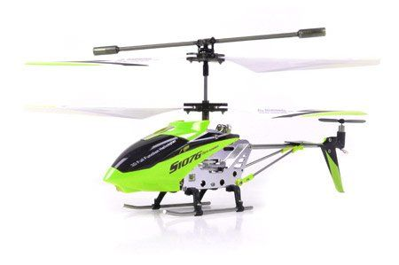 Syma S107G 3 Channel RC Radio Remote Control Helicopter with Gyro - Green Built in Gyroscope for extreme stability and precision Popular S107G now in GREEN COLOR Read to Fly 3 Channel Helicopter