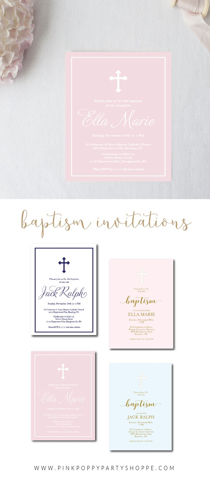 Baptism and First Communion Invitations 61 best