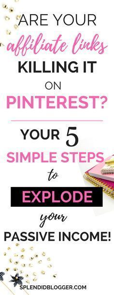 Ready to make money with your affiliate links on Pinterest? It's insanely to get started! Click through to find out how to increase your passive income now! make money from home affiliate marketing WAHM blogging for money make money blogging h #homebusinessideasforladies,