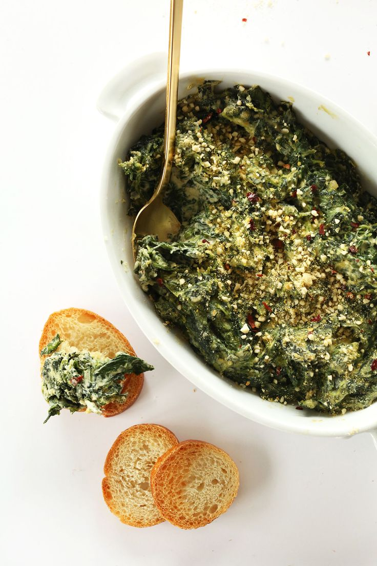8-ingredient Spinach and Kale Dip that's simple to make and incredibly creamy and flavorful. The perfect healthy holiday appetizer!