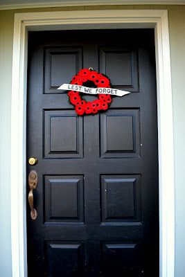 What are we doing today Mom?: Remembrance Day Poppy Wreath