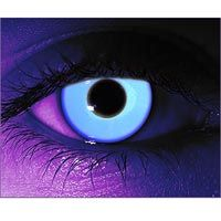 For the serious costumer, contact lenses that glow under black light   *Ooohh... I WANT!