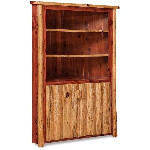 Amish Log Furniture Cedar Corner Hutch ($989) ❤ liked on Polyvore featuring  home,