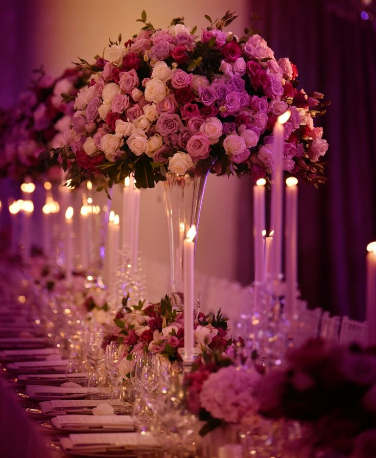 Polo club wedding flower arrangements