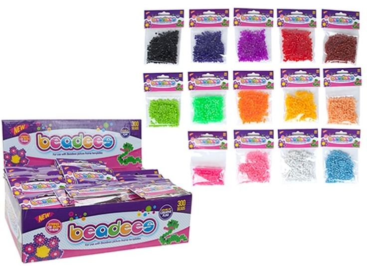 300 x PERLER HAMA BEAD PACKS Pegboard Fuse Melt Iron On Beads Kids Birthday Gift