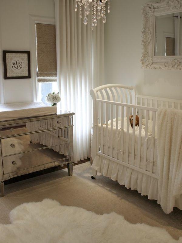 all white glam nursery - Google Search