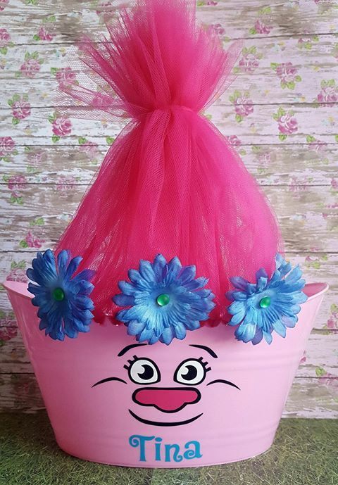 Trolls Oval Easter Tub Toy Storage Basket by GretchinsEtchins