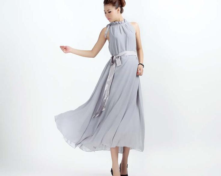 1000+ Ideas About Grey Chiffon Dress On Pinterest