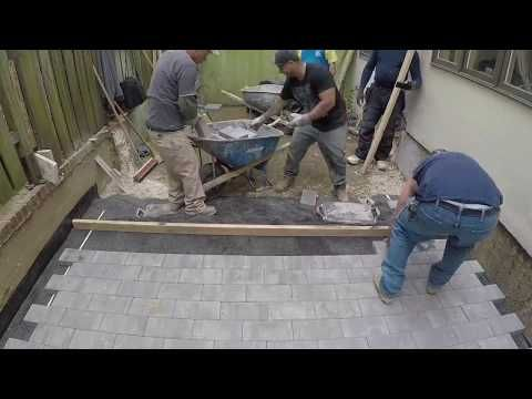 Beginners learn to quickly install Pavers | Concrete and Cement work Contractor - YouTube