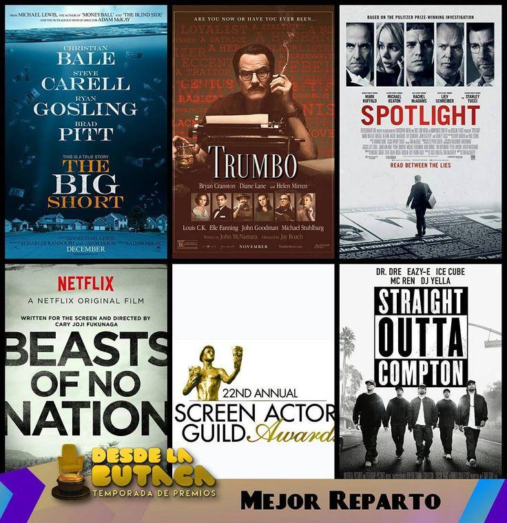Estas son las peliculas nominadas en los #ScreanActorsGuildAwards2016 #SagAwards como Mejor Reparto: - Beasts of No Nation - The Big Short - Spotlight - Straight Outta Compton - Trumbo  #DLB #DesdeLaButaca #CoberturaEspecial #TemporadaDePremios2016 Lee más al respecto en http://ift.tt/1hWgTZH Lo mejor del Cine lo disfrutas #DesdeLaButaca Siguenos en redes sociales como @DesdeLaButacaVe #movie #cine #pelicula #cinema #news #trailer #video #desdelabutaca #dlb
