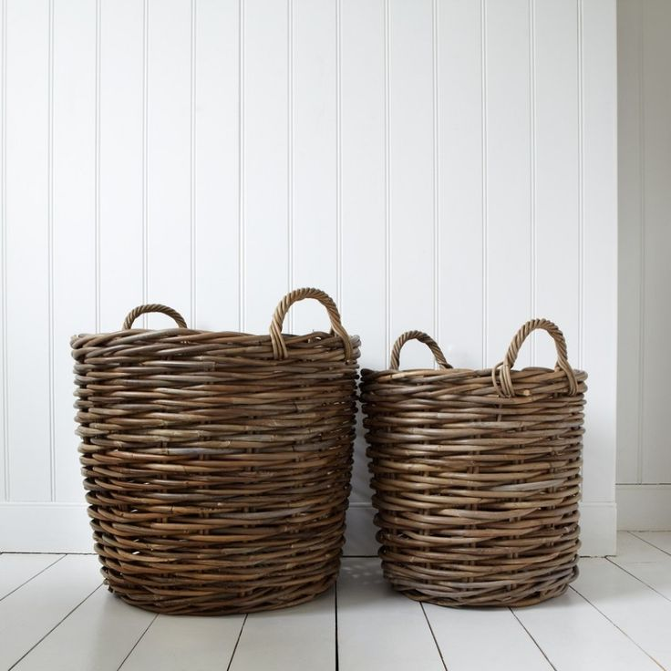 """Pair of Log Baskets - View All Home Accessories - Home Accessories"""" graham and green. GNP 105."""