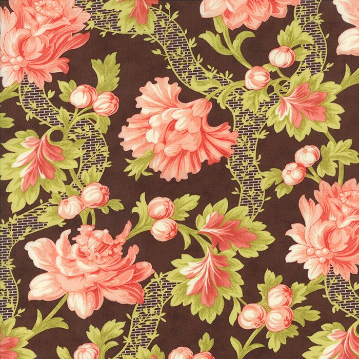 1/2-Yard - SOMERSET Chestnut September Garden by Fig Tree & Company for Moda Fabrics by lavendarquilts on Etsy
