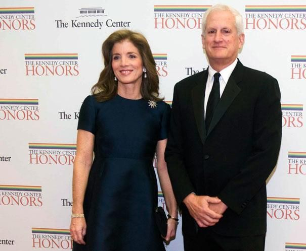 Caroline Kennedy and her husband, Edwin Schlossberg, arrive at the State Department for the Kennedy Center Honors Gala Dinner, 2012. | AP Photo