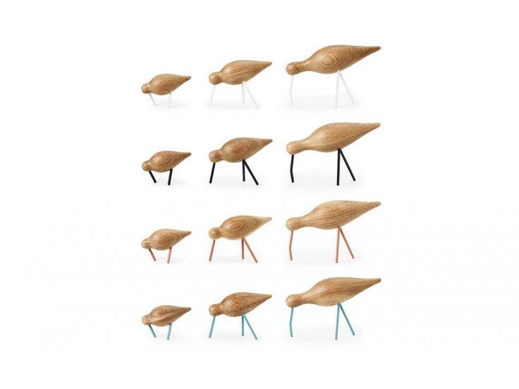 Figurka Dekoracyjna Shorebird Średnia czarna — Figurki dekoracyjne Normann Copenhagen — sfmeble.pl