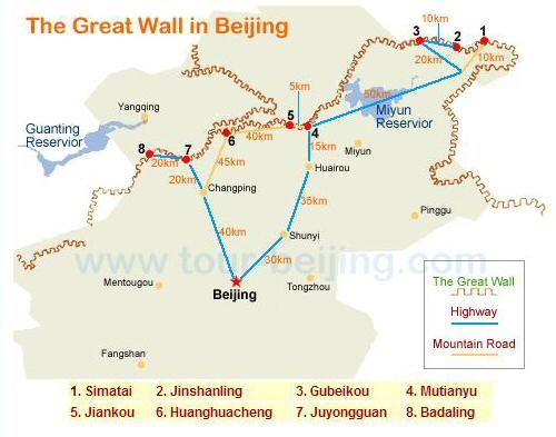 Qué sector visitar de la Gran Muralla   Viajar a China