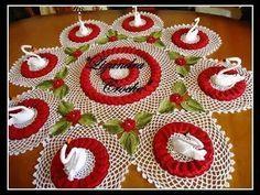 Cisne para Decorar su mesa tejidos a crochet - YouTube