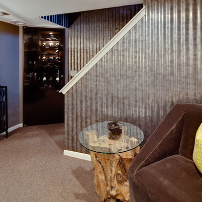 525 best images about corrugated metal on pinterest for Metal barn over basement