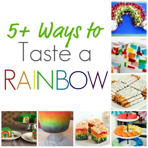 Delicious Ideas For Rainbow Themed Foods At Infarrantly Creative.