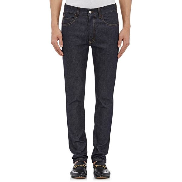 Gucci Men's Slim Jeans ($860) ❤ liked on Polyvore featuring men's fashion, men's clothing, men's jeans, blue, mens slim fit jeans, gucci mens jeans, mens jeans, mens slim jeans and mens slim cut jeans