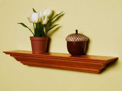 Welland 36 Inch x 3.25 Inch x 5.25 Inch Corona Crown Molding Wall Shelf Honey Oak by Welland. $36.00. Size:36 Inch x 3.25 Inch x 5.25 Inch. it's made from solid wood. Color:Honey Oak. elegantly curved lines. easy to install in a few minutes. Crown molding shelf, also call mantel ledge, is made from solid wood. The crown molding shelf is finely routed and sanded with elegantly curved lines. It's easy to install in a few minutes, comes with all hardware. You can ha...