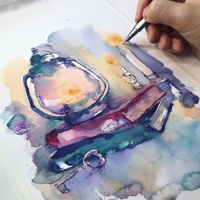Watercolor Sketching Xtina Gavrilova Art Instagram Photos And Videos Sulu Boya