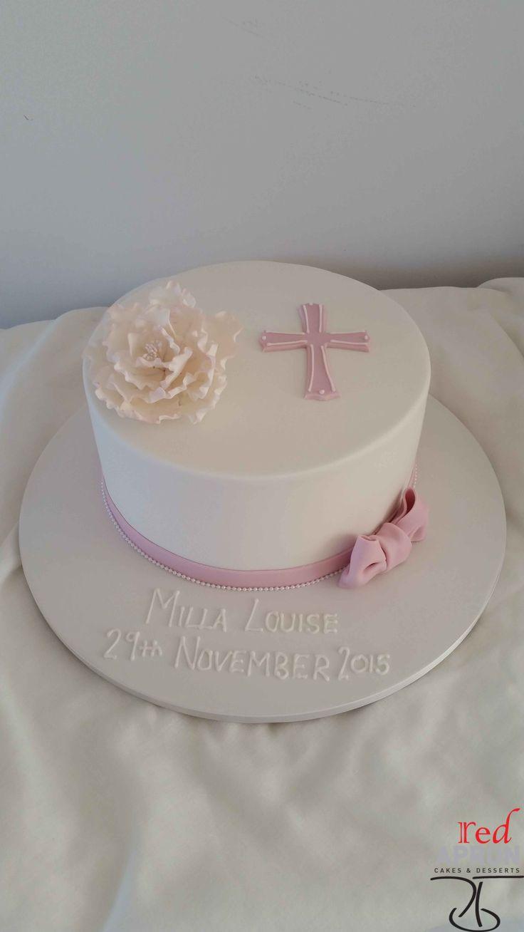 Religious Pink Cross Cake