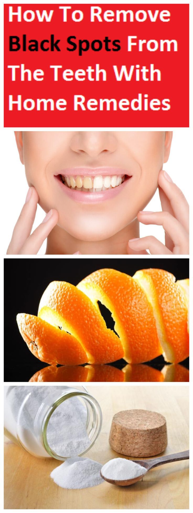 How to remove black spots from the teeth with home