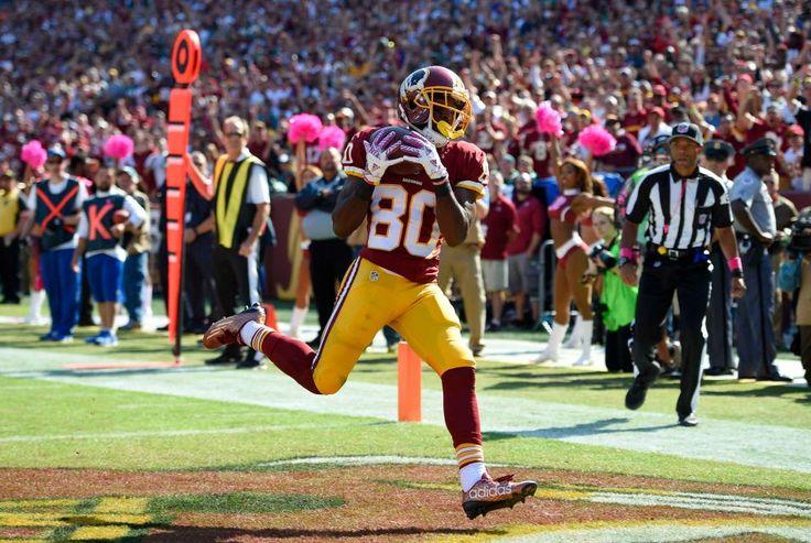 Eagles vs. Redskins:     October 16, 2016   -  27-20, Redskins  -     Washington Redskins wide receiver Jamison Crowder scores a touchdown in the first half of an NFL football game against the Philadelphia Eagles, Sunday, Oct. 16, 2016, in Landover, Md.