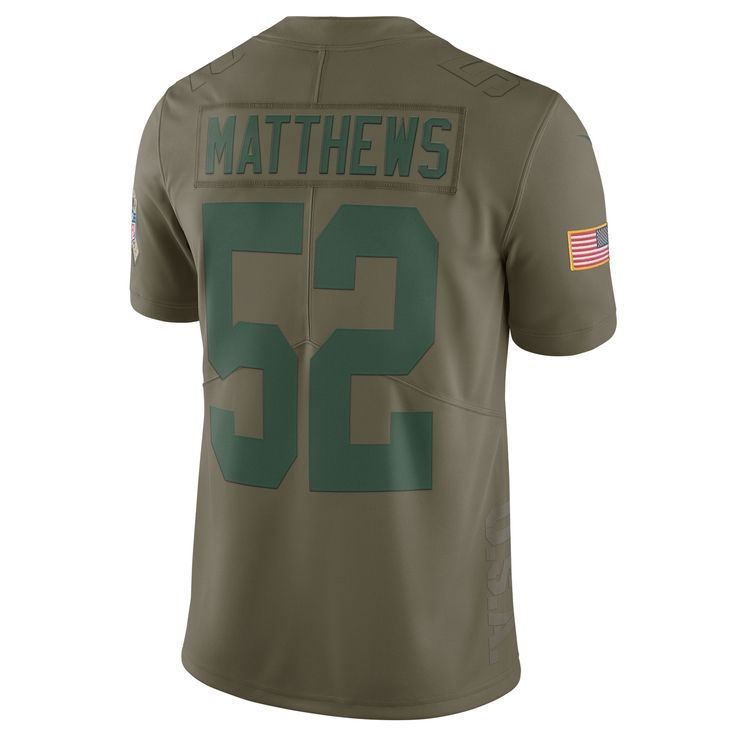 Salute to Service 52 Clay Matthews Limited Jersey ... 688a14bcb