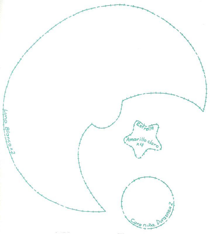 patrón plantilla dibujos de Luna con nubes - Buscar con Google