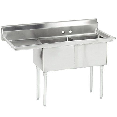 Advance Tabco FE 2 1812 18 X Two Compartment Stainless Steel Commercial