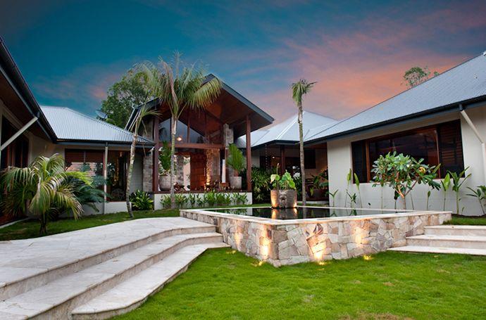 Tropical Pool House by Soul Space Studio, in Ridgewood, Australia