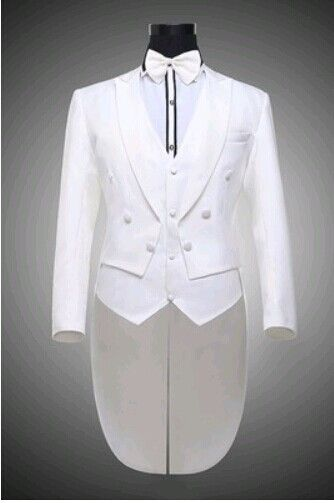 Mens White Suit For Weddings Suits For Men Tuxedo White Black Tuxedo Prom Suits Party Clothing Black And White Tuxedo Dress DJ