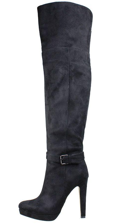 Mπότες πάνω από το γόνατο SEDICI με μισό εσωτερικό φερμουάρ σε χρώμα μαύρο. Από €70,00 ΤΩΡΑ €49,00!