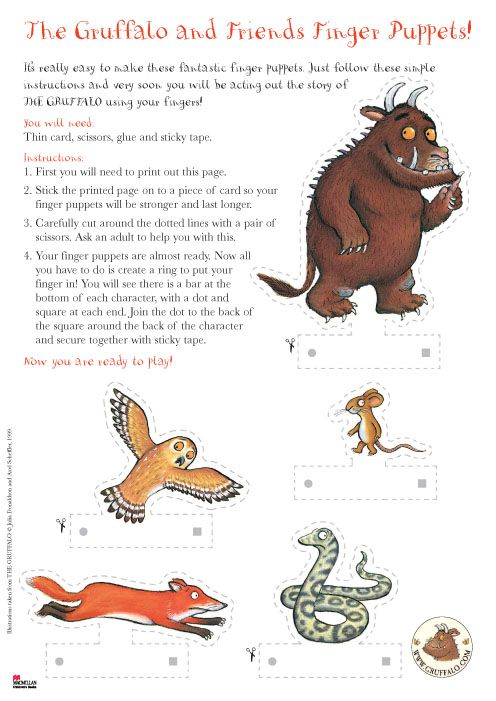 Gruffalo and Friends Finger Puppets from Scholastic