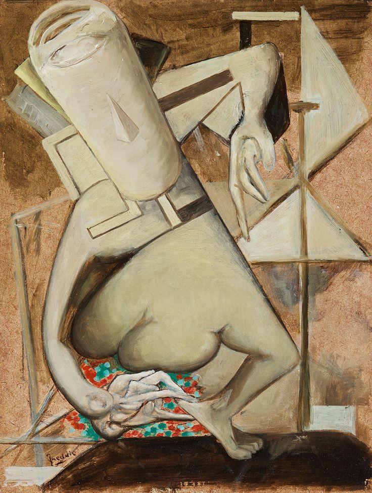 Untitled & Undated. Wilhelm Freddie 1909–1995. Oil on panel.