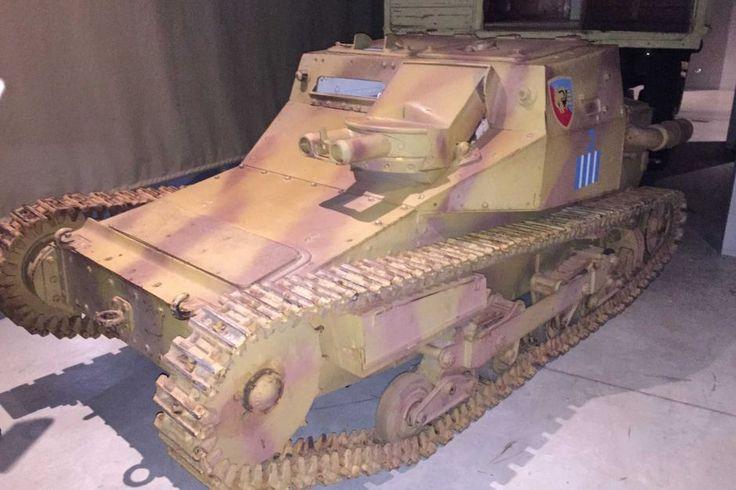 Italian WWII Tankette Captured in Africa On Display at Australian War Memorial - https://www.warhistoryonline.com/war-articles/italian-tankette-on-display.html