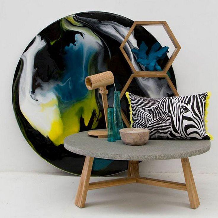 'Zebra in leaves' Cushion featured in @Tailoredspaceinterior styleshot #loveKas