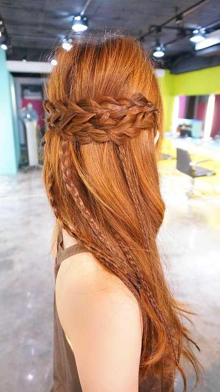20. Frisuren mit Zöpfen für langes Haar