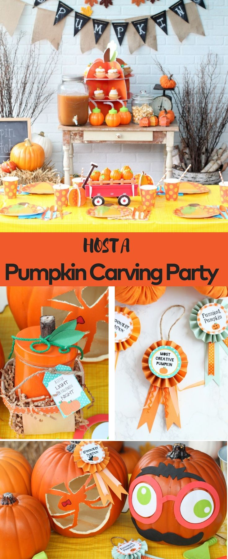 Host A Family Friendly Pumpkin Carving Party Full Of Fun A Yummy Recipe For Pumpkin Cider Pumpkin Carving Party Pumpkin Decorating Party Pumpkin Patch Party