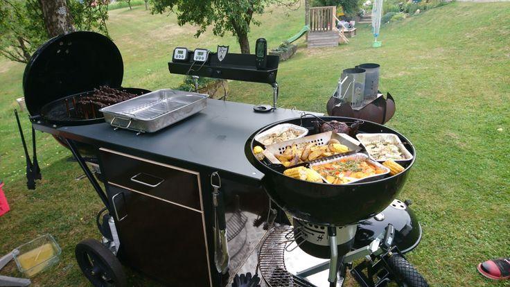 doppel weber grillwagen eigenbau weber grilltisch grillwagen pinterest grillwagen. Black Bedroom Furniture Sets. Home Design Ideas