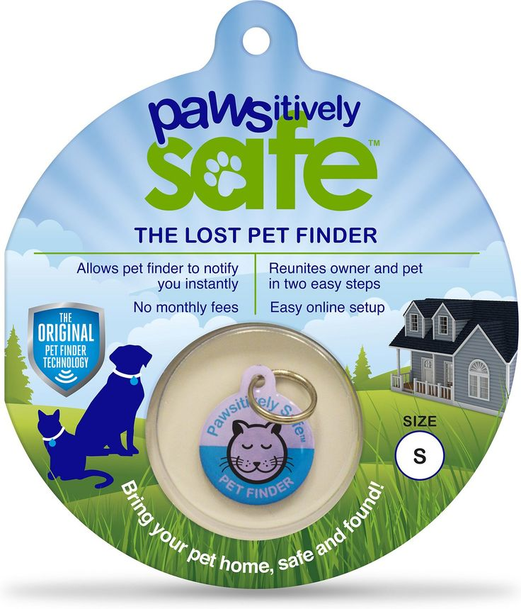 Losing a pet can be heartbreaking, but the Platinum Pets Pawsitively Safe Pet Finder Tag for Cats makes finding your cat an easy and stress-free process. The durable tag is covered in a scratch- and water-resistant epoxy coating, and it has a unique code on the back. Once you enter this code on the Pawsitively Safe site, you can create a profile with your email and phone number. This info can be updated at any time, and there are no monthly fees for the profile. If your kitty goes missing…