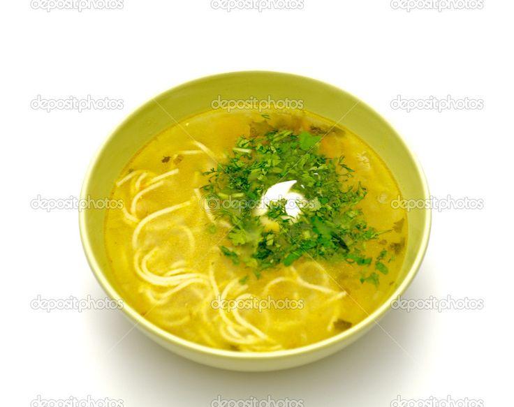 Лапша суп с мясом