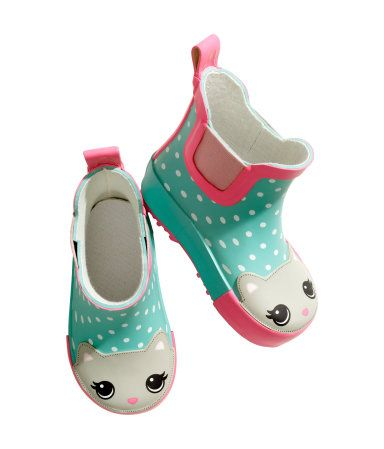 Stylin' rain boots. Every little girl needs a pair of kitty rain boots.